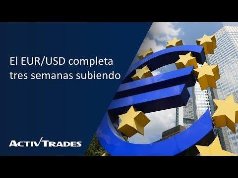 Video Análisis: El EURUSD completa tres semanas subiendo