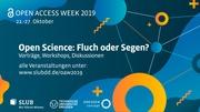 Open Access Week 2019-Events at SLUB Dresden