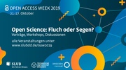 Open Access Week 2019-Events at SLUB Dresden