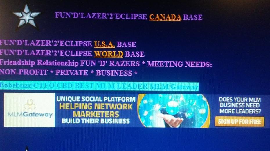 FUN'D'LAZER'2'ECLIPSE CANADA U.S.A. WORLD BASES PHOTO