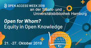 Open-Access-Week 2019: Activities at the Hamburg State and University Library