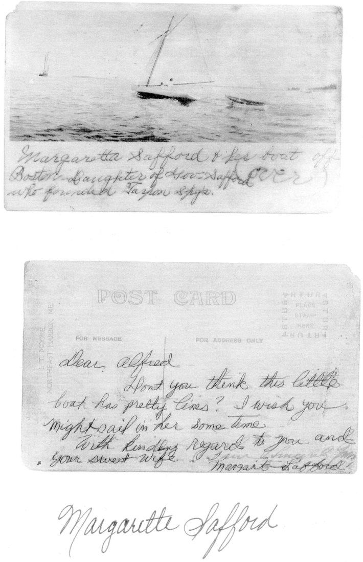 Post card to Alfred Allen
