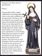 Prayer to St Rita in Special Need