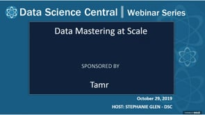 DSC Webinar Series: Data Mastering at Scale