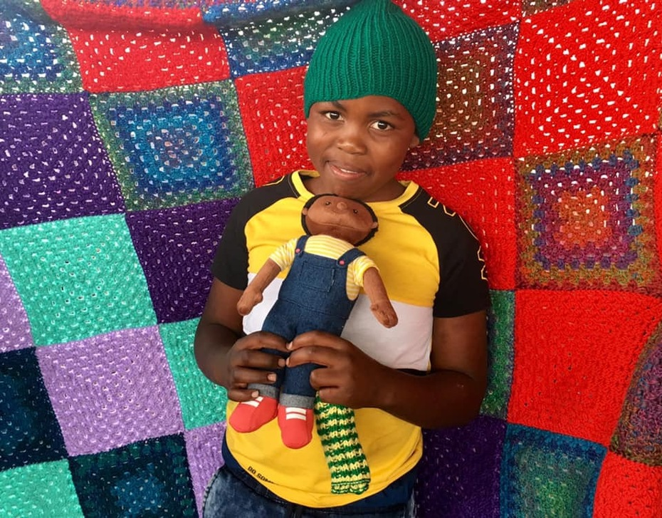 Anneke's blanket distributed to this dear needy child by Athelé