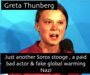Greta Thunberg Fake Global Warming Agent Provocateur