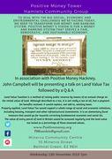 Positive Money meeting on Land value Tax