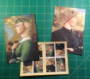 Keith Chambers' postcards and matching stamps