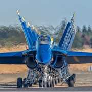 blue angels in taxi way