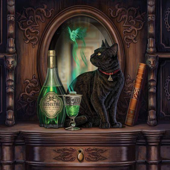 Black Cat & Absinthe Fairy