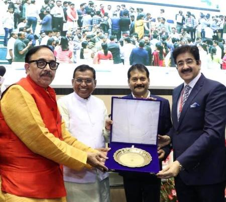 Chief Scout For India Sandeep Marwah Honored At Vigyan Bhawan