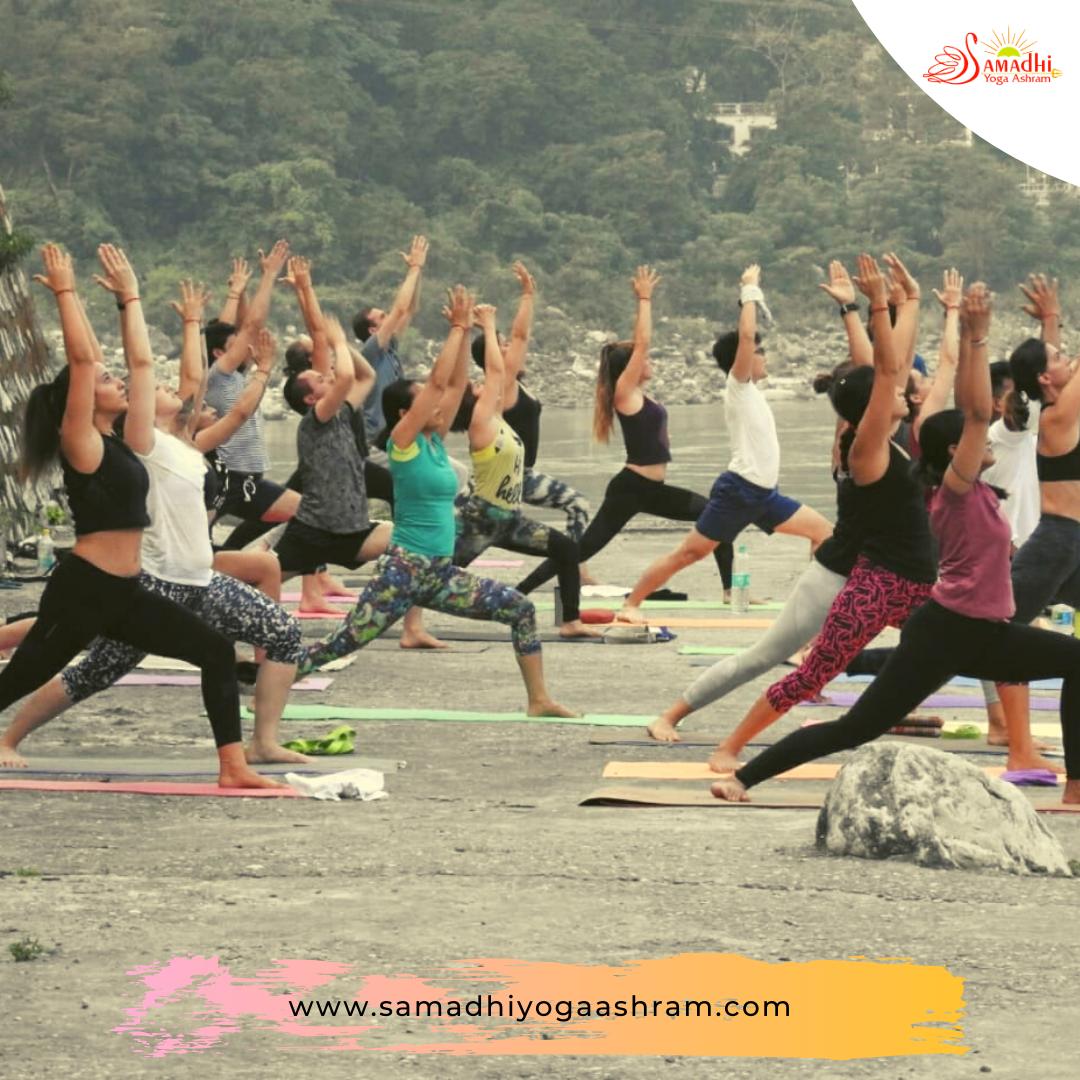 Yoga practice near ganga sya