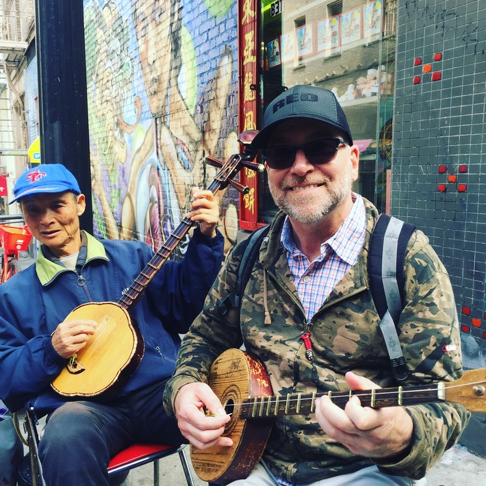 Jammin' with a local in San Francisco.