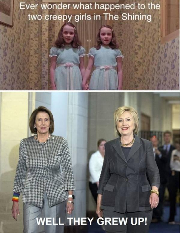 The Shining sisters all grown up.
