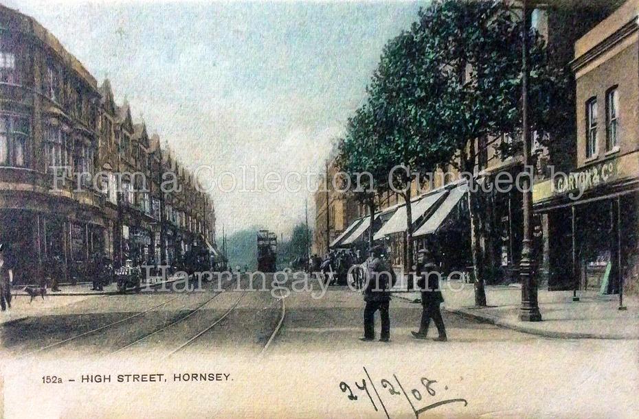 Hornsey High Street (Colourised), c1905