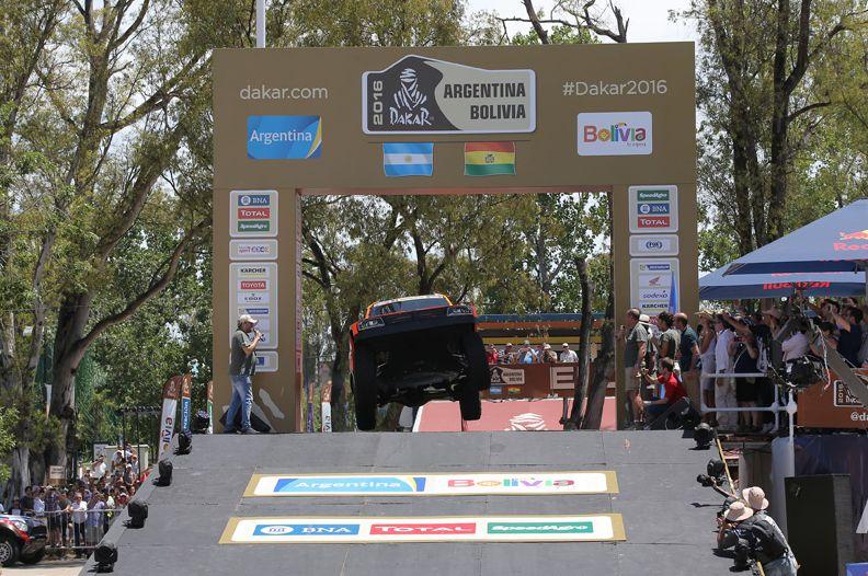 2016 Dakar Podium Jump