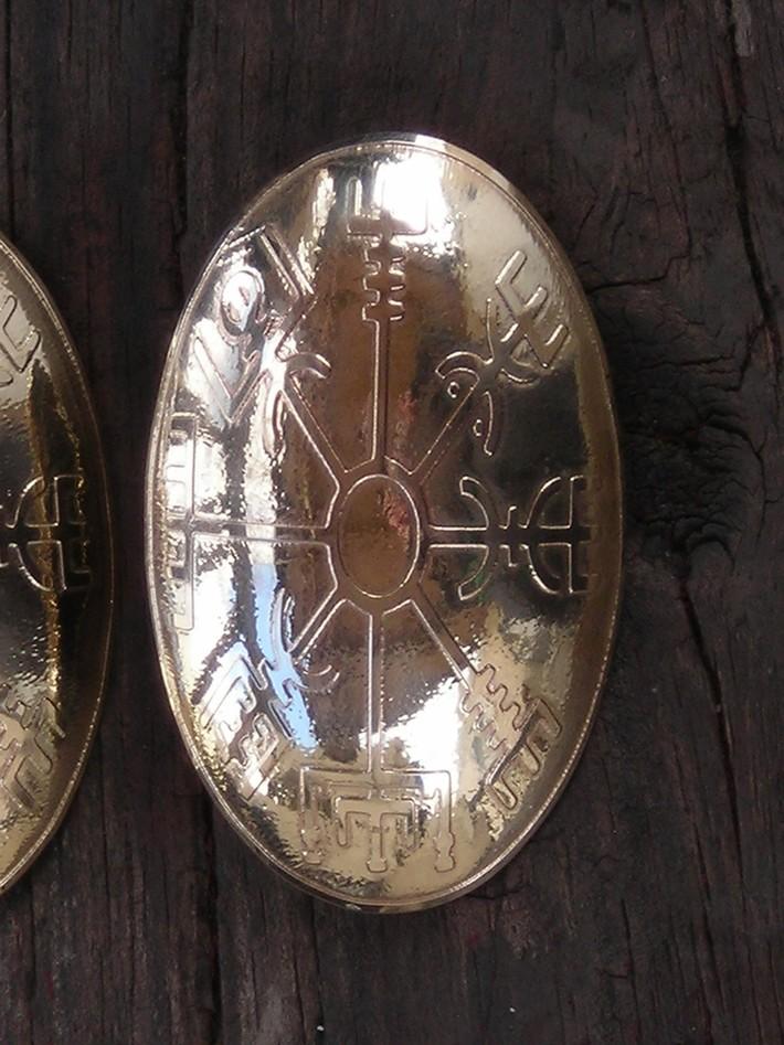 Viking Compass Tortoise Brooches