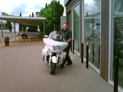 Tom from Victory Sydney takes the bike from the Showroom