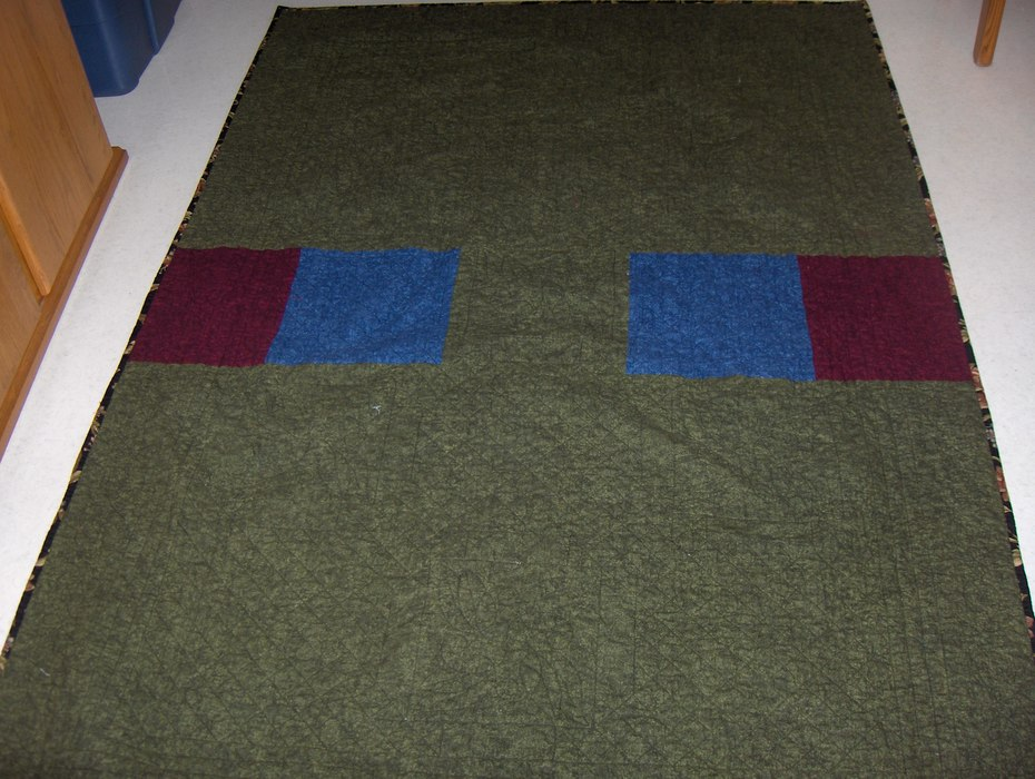 Barbs quilt back