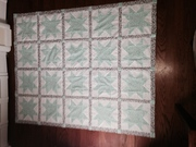 teal star quilt - front