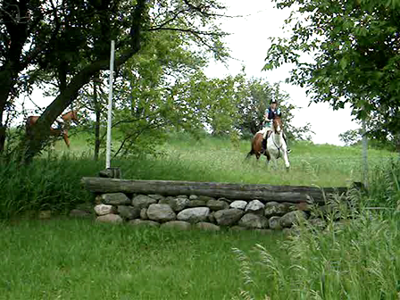 Jumping a stone wall