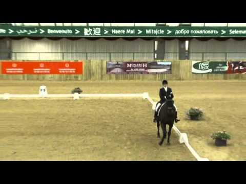 A Blind Dressage Rider Performance