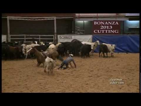 Cutting Horse Wreck with Cow During Competition!