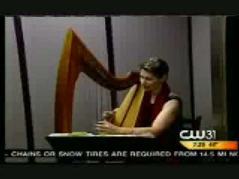 Live Elevator Music!--Celtic Harpist Performs Inside an Elevator