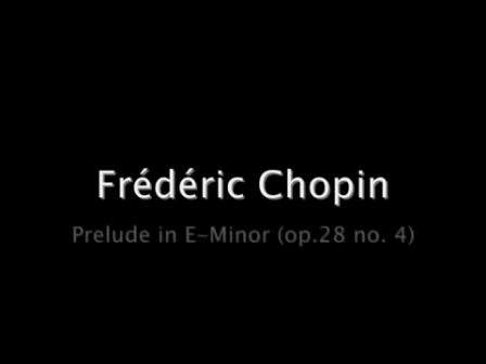 Chopin - Prelude No 4