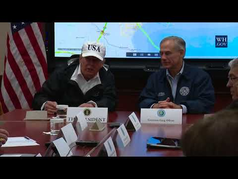 President Trump Receive a Briefing on Hurricane Harvey with State Leadership