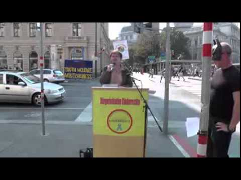 Speakers´Corner Bürgerinitiative Kinderrechte 05 09 2014 Wien