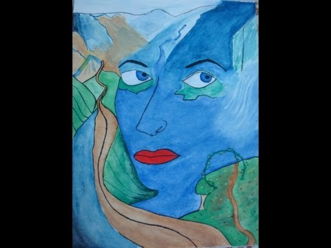 My Indian Paintings - Glass Painting and Using Water Colors - Take a look !!!