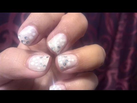 ''Snow & Glitter''  Winter Nails - Easy Festive Nail Art!