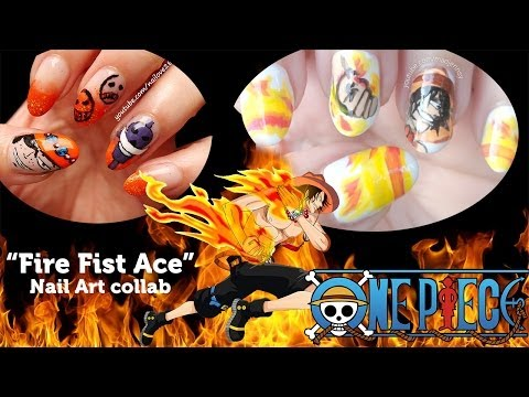 One Piece Portgas D. Ace Collab with nailove2807 (ポートガス・D・エース)
