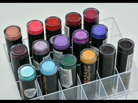 Makeup Revolution lipsicks +  SWATCHES