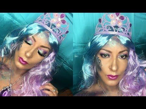 Cotton Candy Mermaid | Halloween Makeup