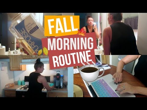 Fall Morning Routine | Getting My Day Started | Stay At Home Mom