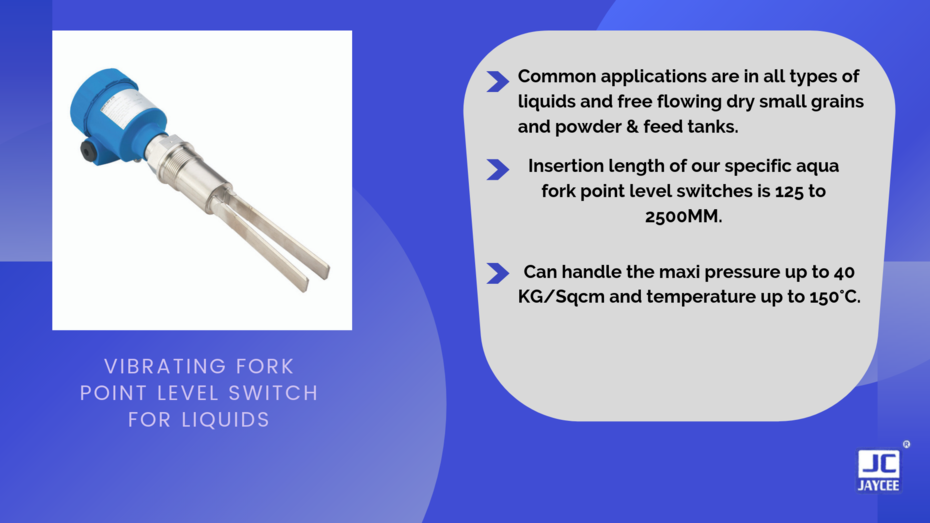 Vibrating Fork Point Level Switch For Liquids