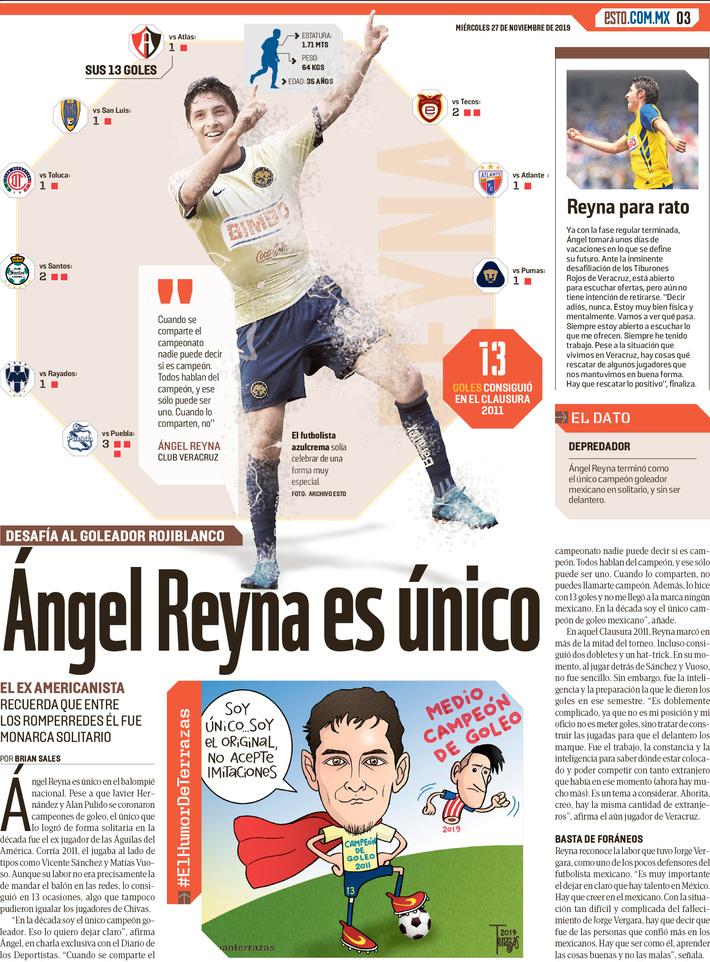 Ángel Reyna es único