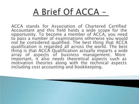 ACCA Classes in Delhi
