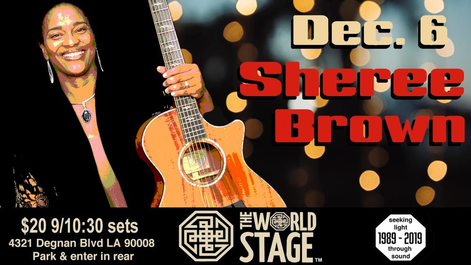 "SHEREE BROWN @ The 'new' World STAGE ""Lady Artist Philanthropist"""