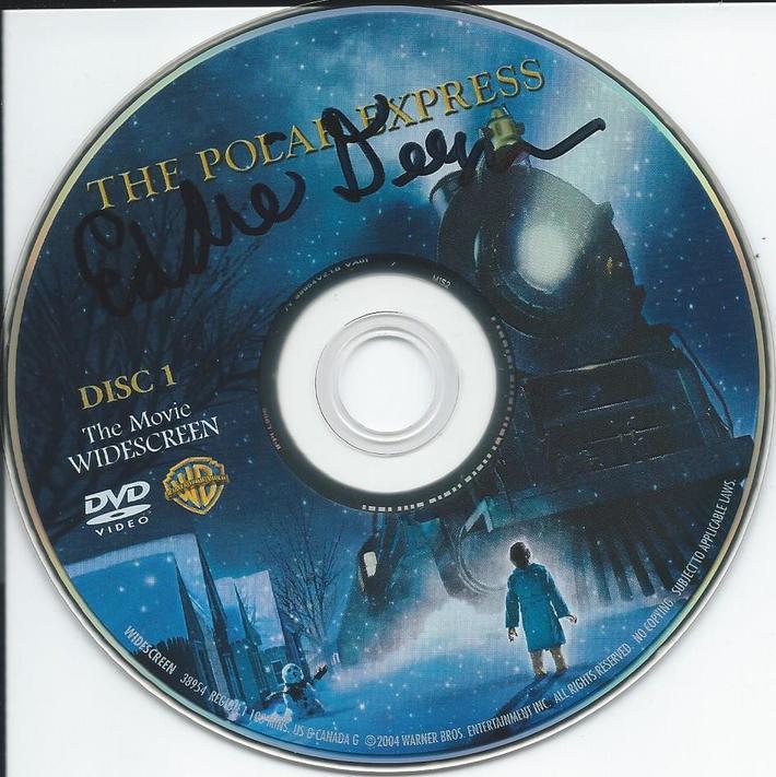 Polar Express DVD disc signed by Eddie Deezen after my train ri