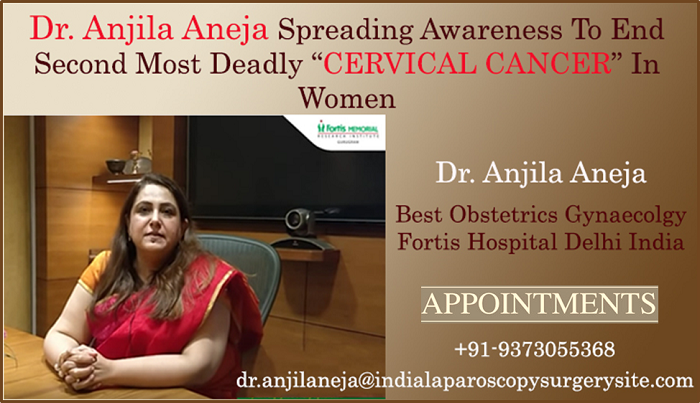 """Dr. Anjila Aneja Spreading Awareness To End Second Most Deadly """"CERVICAL CANCER"""" In Women"""