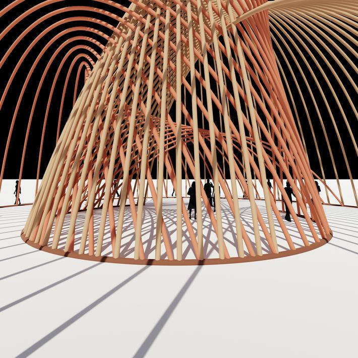 Catenary Structure Pavilion