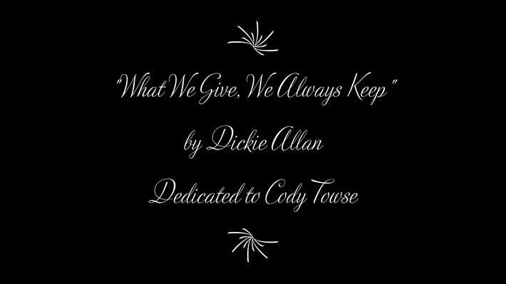 What We Give, We Always Keep