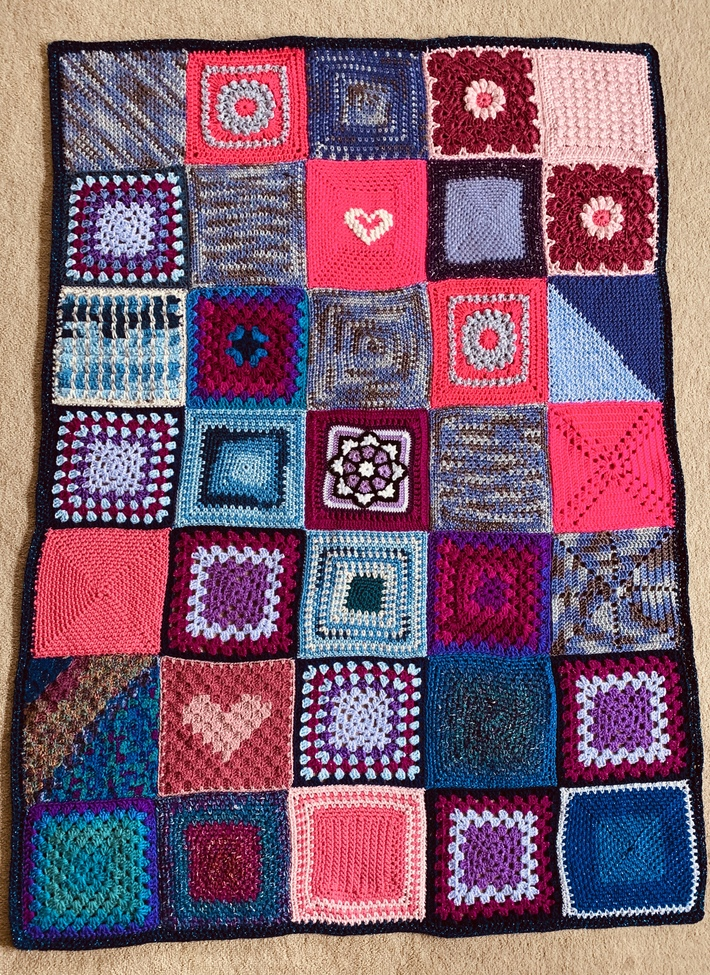 Some of Sharon B's fabulous squares.