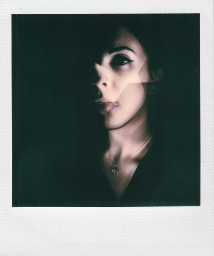 Decomposed -recomposed portrait