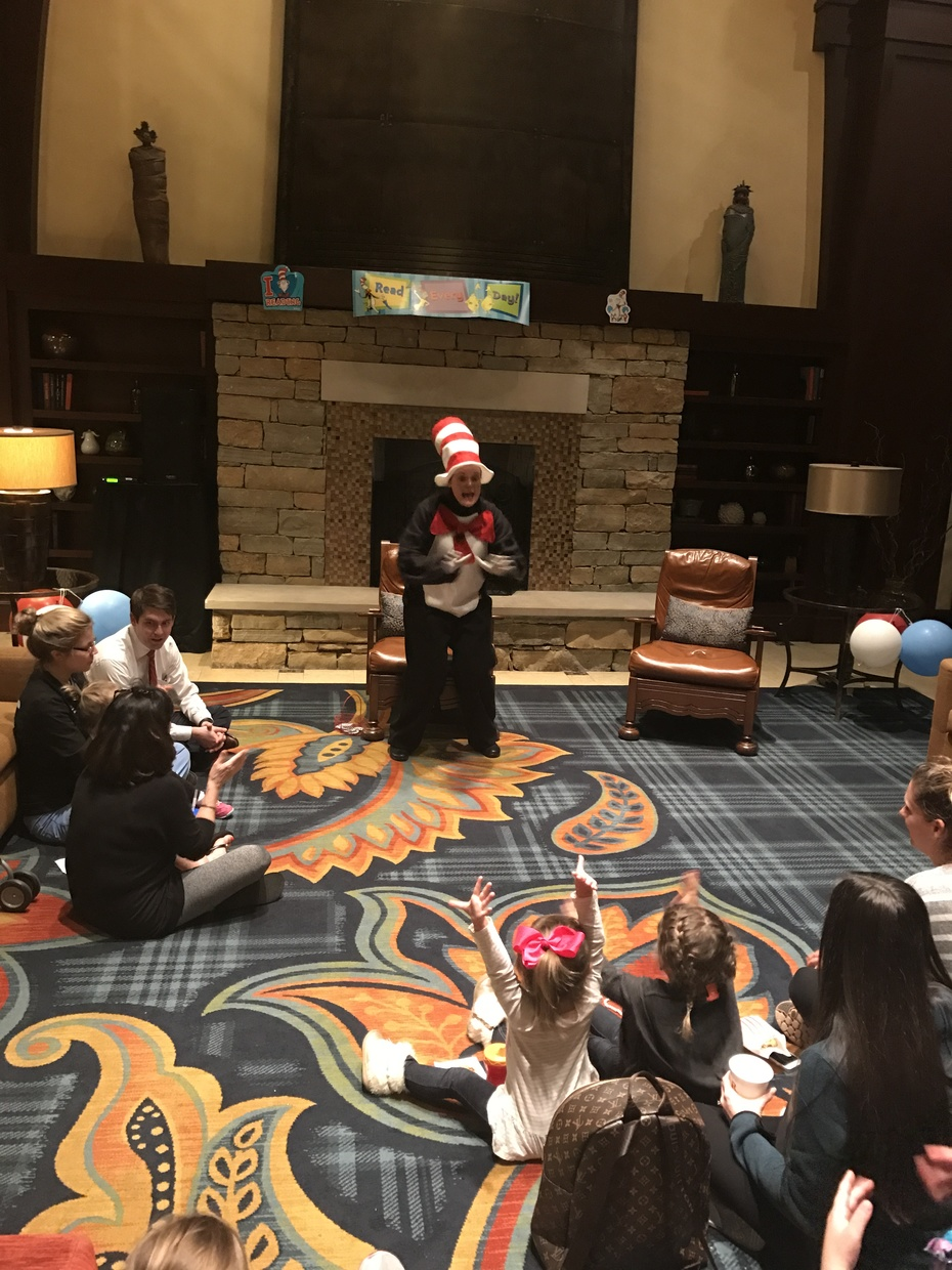 Cat in the Hat visits the RB Hotel