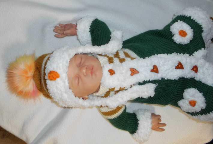 Weihnachtsmantel Garnitur Tilda