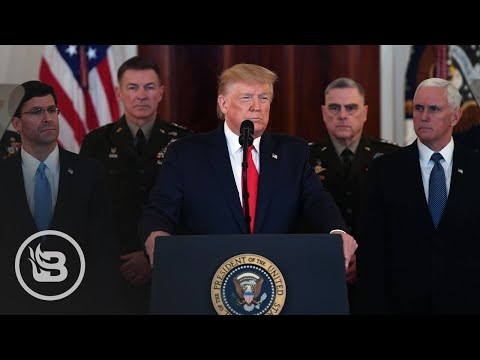 """Trump :  """" As long as I Am president of the United States,Iran will never be ALLOWED to have a nuclear weapon"""" as   Addresses the Nation After Iran Attacks"""